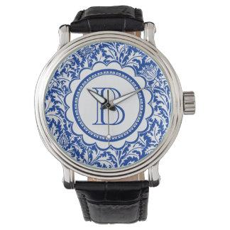 Your Monogram William Morris Blue and White Wristwatches