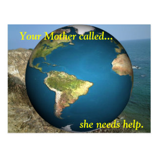 Your Mother called... Postcard