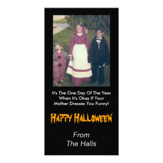 Your Mother Dress You Funny Halloween Photo Card