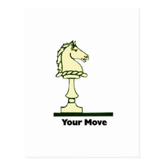 Your Move - Vintage Chess Piece Postcard