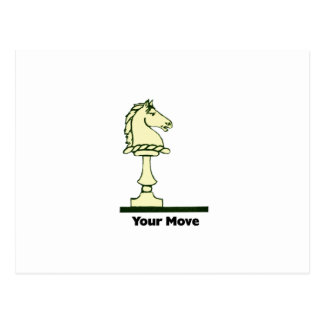 Your Move - Vintage Chess Piece Postcard