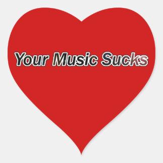Your Music Sucks Heart Sticker