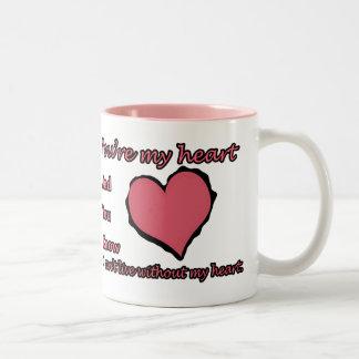 Your My Heart Two-Tone Coffee Mug