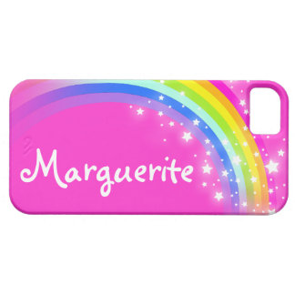 """""""Your name"""" (10 letter) rainbow pink iphone case iPhone 5 Cases"""