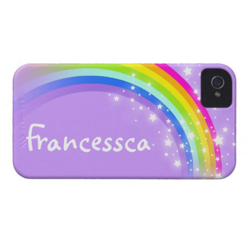 Your name (10 letter) rainbow violet iphone case iPhone 4 covers
