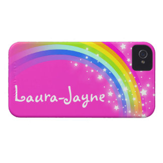 """Your name"" (11 letter) rainbow pink iphone case iPhone 4 Case-Mate Case"