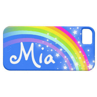 """""""Your name"""" (3 letter) rainbow blue iphone case"""