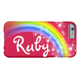 Your name 4 letter rainbow red iphone case