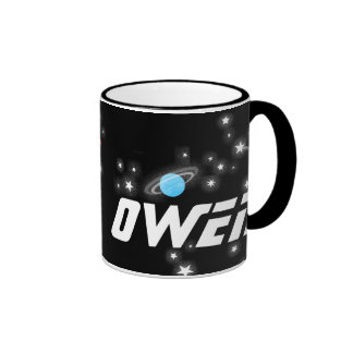Your name (4 letter) space red black kids mug ringer mug