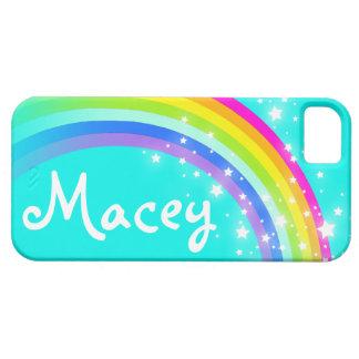 Your name 5 letter rainbow aqua iphone 5 case