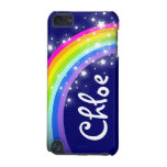 """""""Your name"""" (5 letter) rainbow on navy ipod case iPod Touch 5G Covers"""