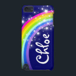 "&quot;Your name&quot; (5 letter) rainbow on navy ipod case<br><div class=""desc"">Uniquely designed bright and colourful rainbow &quot;your name&quot; girlie ipod case. Case reads: ""Chloe"" or personalise this case with the name of your choice up to 5 letters. (***Please note some names will not always fit due to the nature of the font. You can find more rainbow cases here or...</div>"