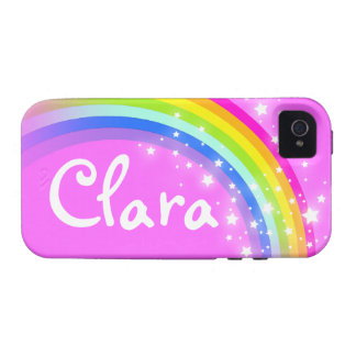 """""""Your name"""" (5 letter) rainbow pink iphone case Case-Mate iPhone 4 Covers"""