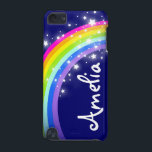 """""""Your name"""" (6 letter) rainbow on navy ipod case<br><div class=""""desc"""">Uniquely designed bright and colourful rainbow """"your name"""" girlie ipod case. Case reads: """"Amelia"""" or personalise this case with the name of your choice up to 6 letters. (***Please note some names will not always fit due to the nature of the font. You can find more rainbow cases here or...</div>"""