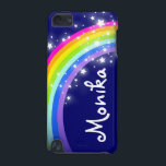 "&quot;Your name&quot; (6 letter) rainbow on navy ipod case<br><div class=""desc"">Uniquely designed bright and colourful rainbow &quot;your name&quot; girlie ipod case. Case reads: ""Monika"" or personalise this case with the name of your choice up to 6 letters. (***Please note some names will not always fit due to the nature of the font. You can find more rainbow cases here or...</div>"