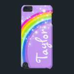 "&quot;Your name&quot; (6 letter) rainbow violet ipod case<br><div class=""desc"">Uniquely designed bright and colourful rainbow &quot;your name&quot; girlie ipod case. Case reads: ""Taylor"" or personalise this case with the name of your choice up to 6 letters. A perfect gift for a vibrant child to help protect your child&#39;s ipod from knocks, accidents and loss. Item designed exclusively by Sarah...</div>"