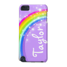 """Your name"" (6 letter) rainbow violet ipod case at Zazzle"