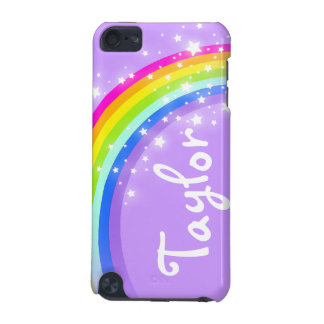 """Your name"" (6 letter) rainbow violet ipod case"