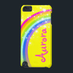 "&quot;Your name&quot; (6 letter) rainbow yellow ipod case<br><div class=""desc"">Uniquely designed bright and colourful rainbow &quot;your name&quot; girlie ipod case. Case reads: ""Aurora"" or personalise this case with the name of your choice up to 6 letters. (***Please note some names will not always fit due to the nature of the font. You can find more rainbow cases here or...</div>"