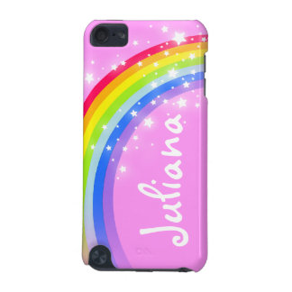 Your name (7 letter) rainbow light pink ipod case