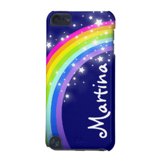 """""""Your name"""" (7 letter) rainbow on navy ipod case iPod Touch (5th Generation) Case"""
