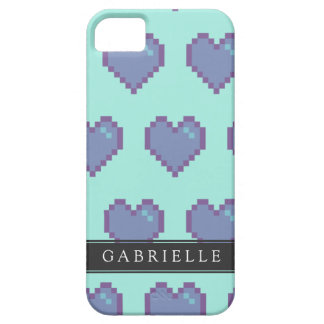 Your Name 8-Bit Love Blue iPhone SE/5/5s Case