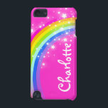 "&quot;Your name&quot; (9 letter) rainbow pink girl ipod case<br><div class=""desc"">Uniquely designed bright and colourful rainbow your name girlie ipod case. Case reads: ""Charlotte"" or personalise this case with the name of your choice up to 9 letters. A perfect gift for a vibrant child to help protect your child&#39;s ipod from knocks, accidents and loss. Item designed exclusively by Sarah...</div>"