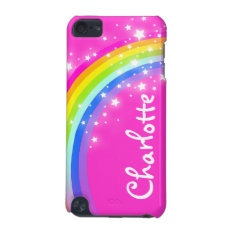 """Your name"" (9 letter) rainbow pink girl ipod case at Zazzle"