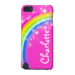 """Your name"" (9 letter) rainbow pink girl ipod case iPod Touch 5G Cover"