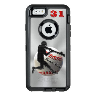 Your NAME and NUMBER iPhone 6 Baseball Cases