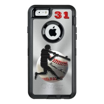 Your Name And Number Iphone 6 Baseball Cases by LittleLindaPinda at Zazzle