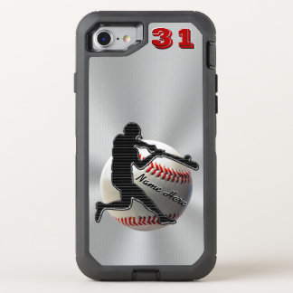 Your NAME and NUMBER iPhone 7 Baseball OtterBox Defender iPhone 7 Case