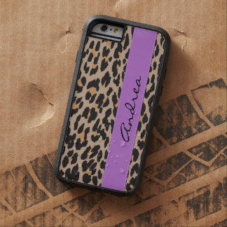 Your Name - Animal Print, Spotted Leopard - Brown Tough Xtreme iPhone 6 Case