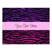 Your Name - Animal Print, Zebra, Glitter - Pink Flyer