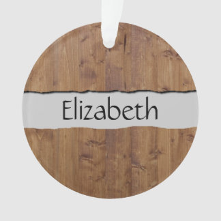 Your Name - Barn Wall Made of Old Wooden Planks Ornament