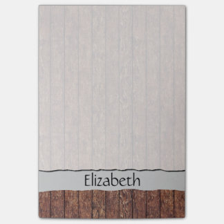 Your Name - Barn Wall Made of Old Wooden Planks Post-it® Notes