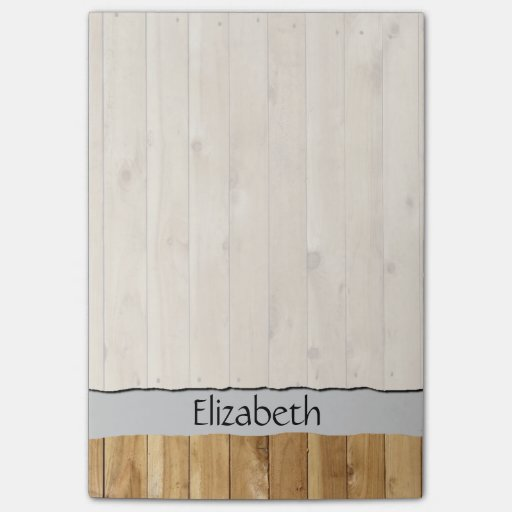 Your Name - Barn Wall Made of Pine Wooden Planks Post-it® Notes