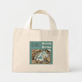 Your Name Beach Rocks tote bag Kids Beach Combing