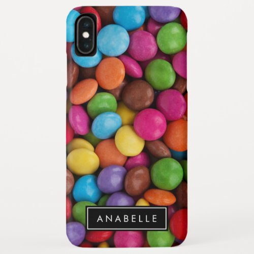 Your Name _ Button_Shaped Candy _ Purple Pink iPhone XS Max Case