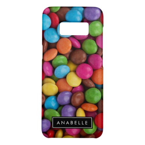 Your Name _ Button_Shaped Candy _ Purple Pink Case_Mate Samsung Galaxy S8 Case