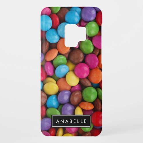 Your Name _ Button_Shaped Candy _ Purple Pink Case_Mate Samsung Galaxy S9 Case