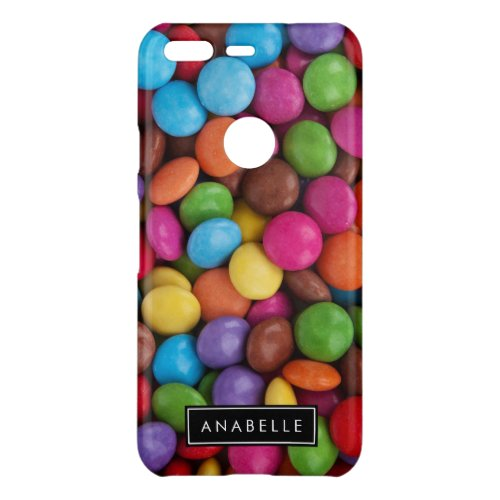 Your Name _ Button_Shaped Candy _ Purple Pink Uncommon Google Pixel Case