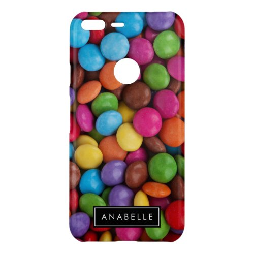 Your Name _ Button_Shaped Candy _ Purple Pink Uncommon Google Pixel XL Case