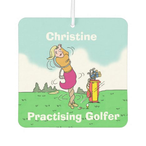 Your Name Choice. Practising Golfer. Car Air Freshener