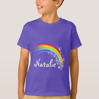 """Your name"" colorful rainbow purple top"