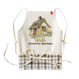 Your name country kitchen zazzle HEART apron