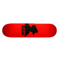Your Name Cowboy Silhouette Skateboard Deck