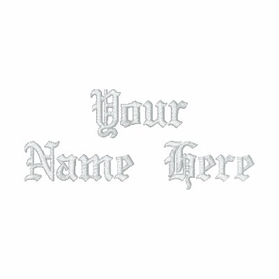 Your name. Customizable Black and White Hoody