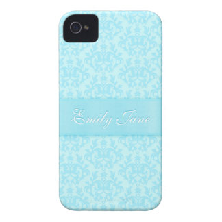 """""""Your name"""" damask light blue iphone4S barely case Case-Mate iPhone 4 Case"""