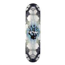 Your Name Flames Skateboard